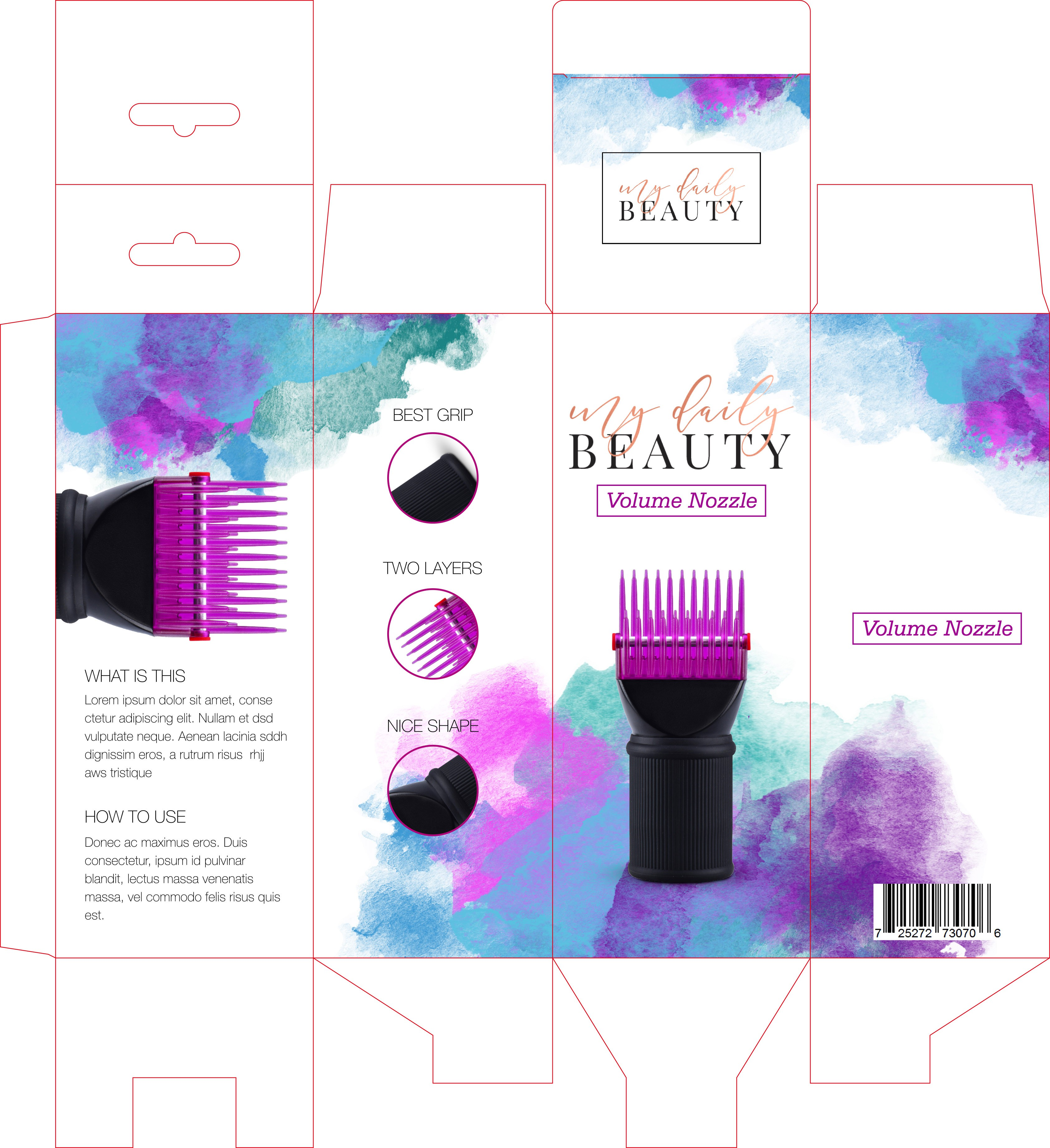 Design an outstandig fresh, modern, trendy packaging design for a young beauty brand