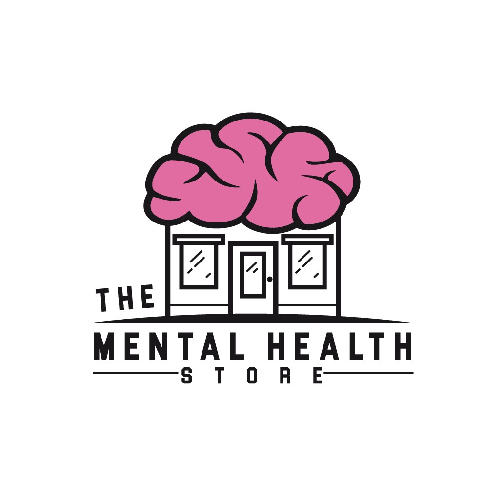 Design a clean but cheerful logo for a Mental Health Store.