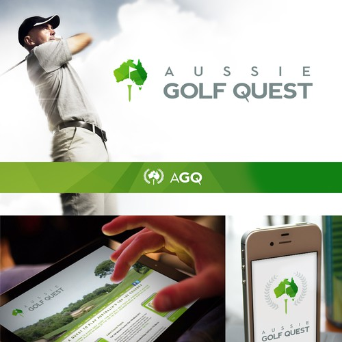 Create the next logo for Aussie Golf Quest