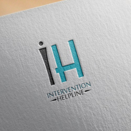 "Help Us Help Others with a Logo for ""Intervention Helpline"""