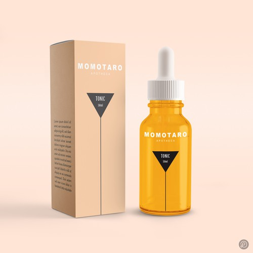 Momotaro Apotheca - products for vaginal wellness packaging design
