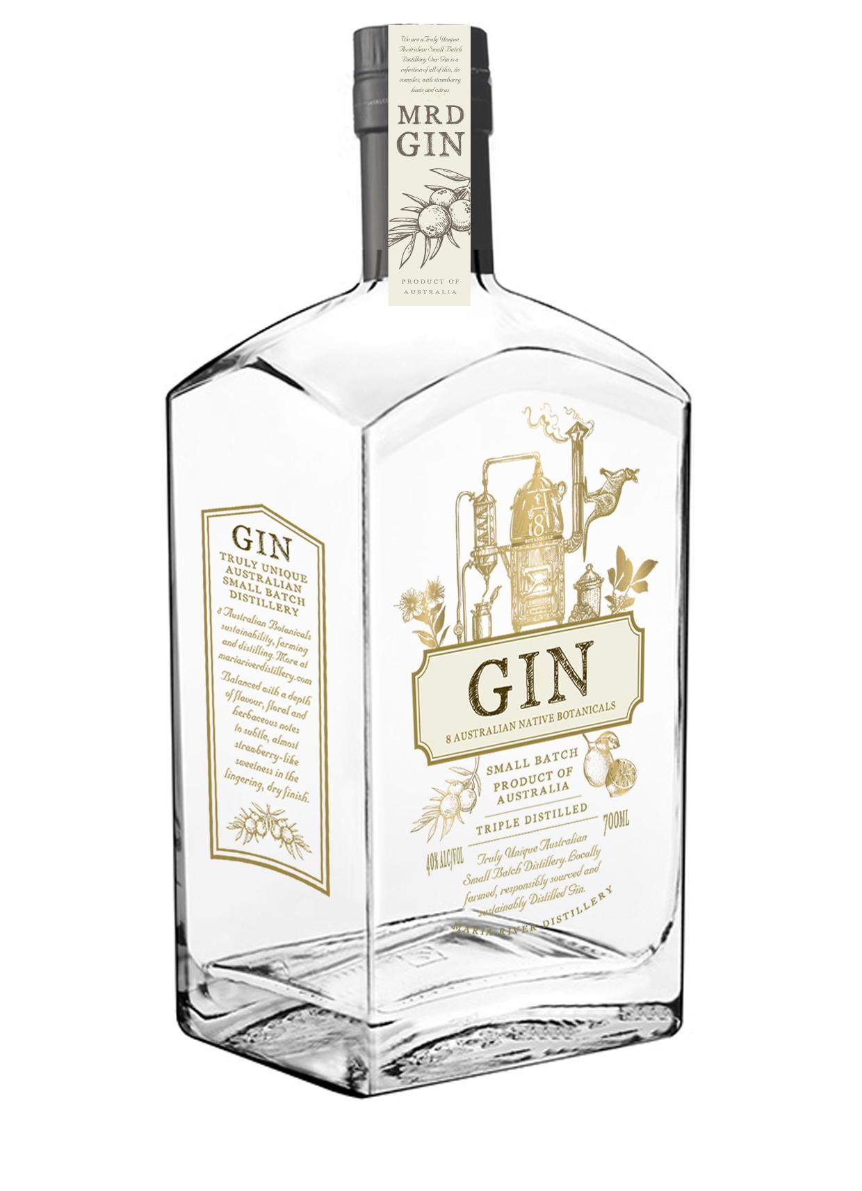 MRD Gin bottle visual