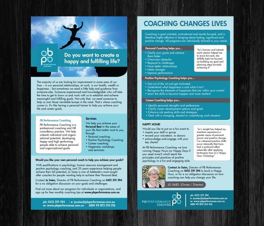 Help PB Performance Coaching with a DL flyer
