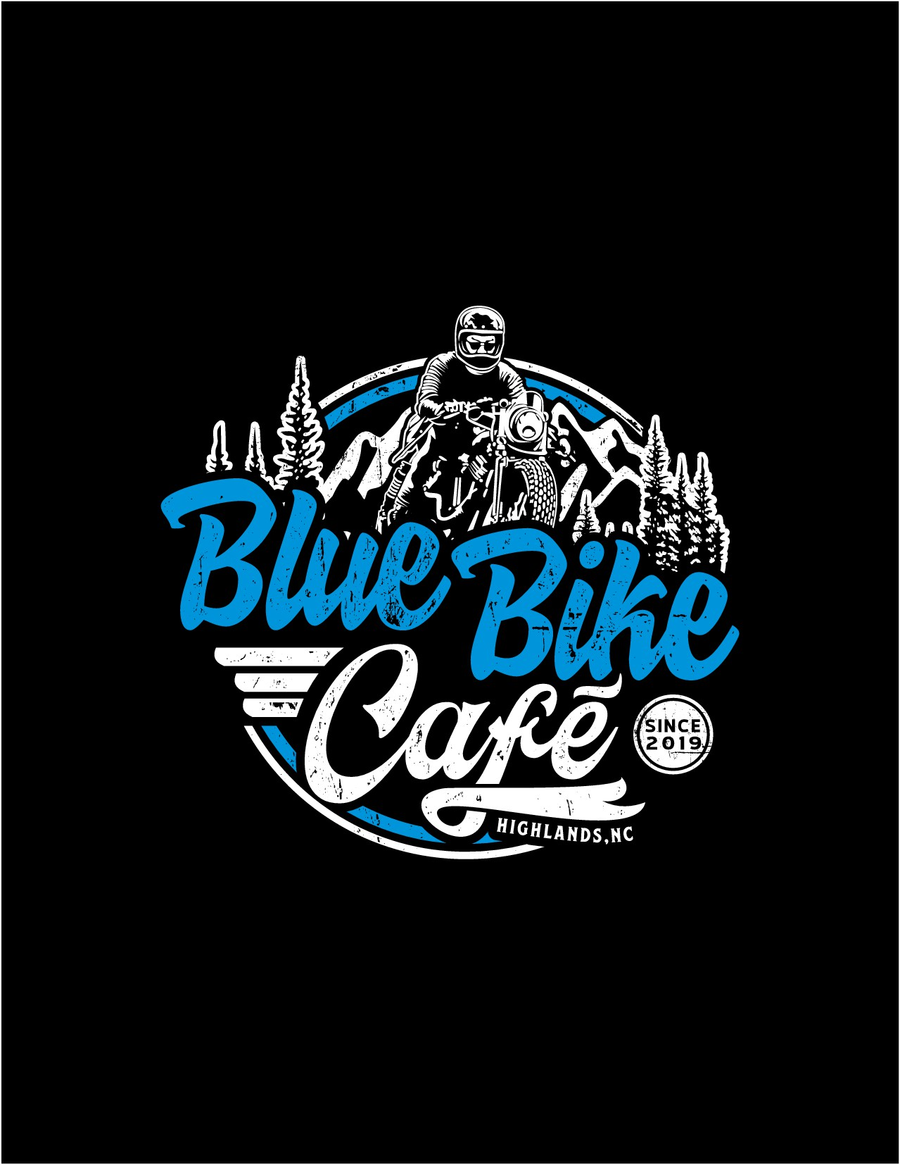 Vintage/Retro Cafe Racer T-Shirt for the Blue Bike Cafe!!