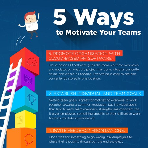 Enticing illustration about ways to motivate a team.