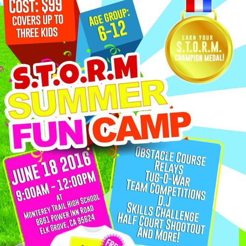 Summer Fun Camp Flyer