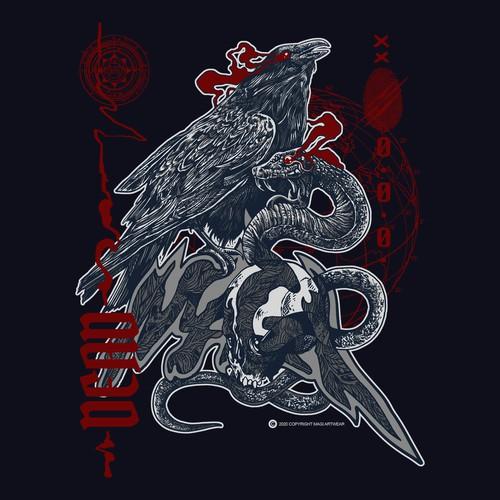 design tshirt for brand magi