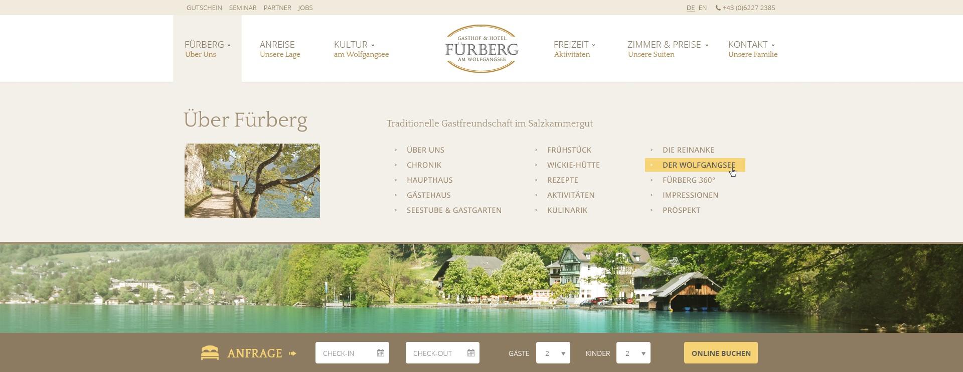 Fürberg Web redesign