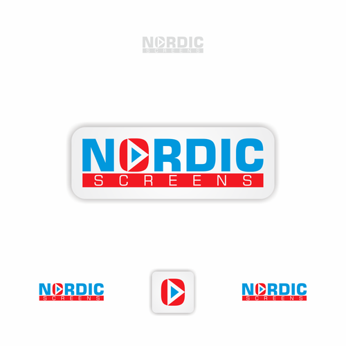 Create a leading Nordic mobile & video identity saying:  Hey You!  Have a look!