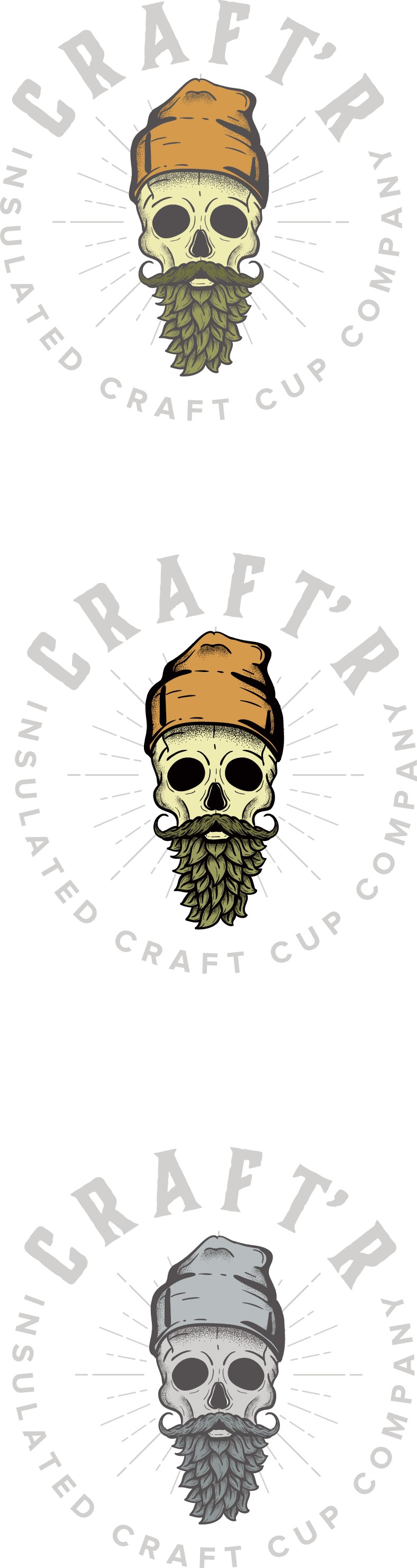 Create an edgy logo for insulated craft beer tumbler called Craft`r