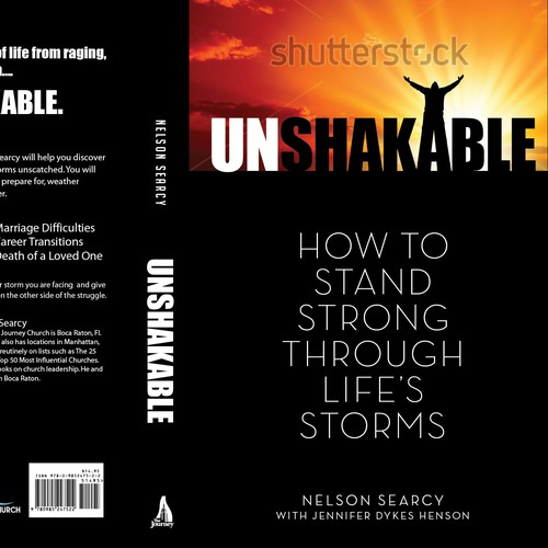 """Book Cover design for """"Unshakable"""" - 10th book by author"""