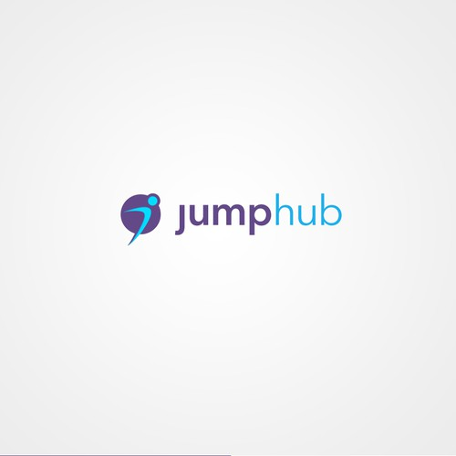 Jumping logo for jumphub startup