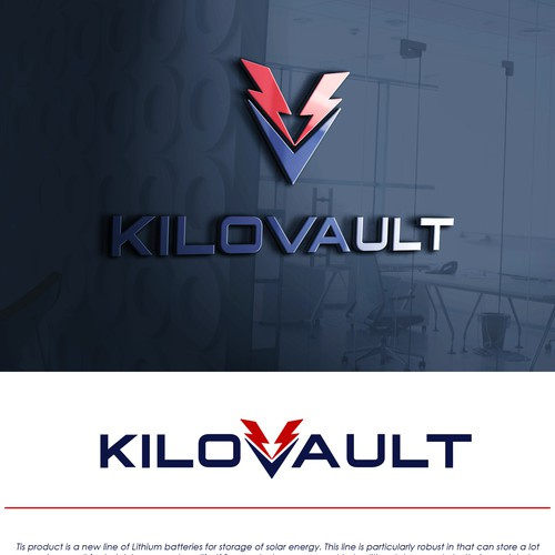 Strong and Powerful logo concept for KILOVAULT