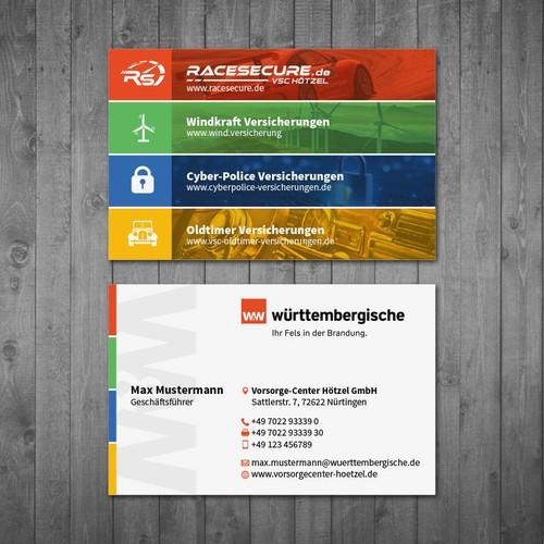 Vorsorge-Center Hötzel - modern and clean business card concept for insurance agency