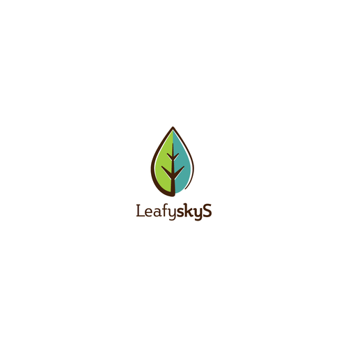 Logo concept for Leafy skyS