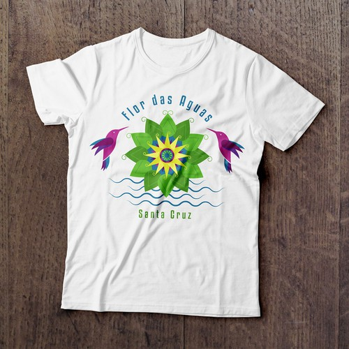 Flor das Aguas t-shirt design