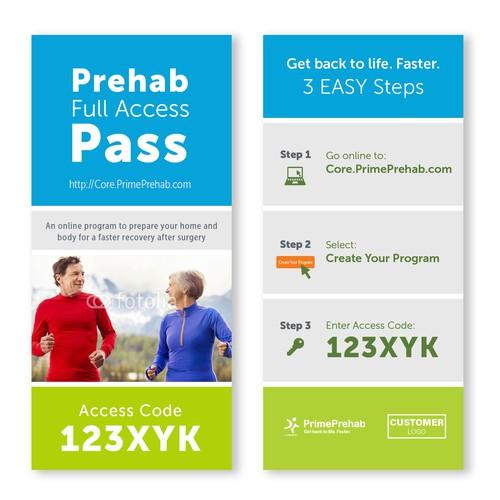 Design concept for a health care access pass