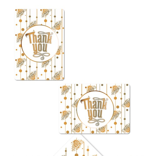 Romantic Thanc you cards