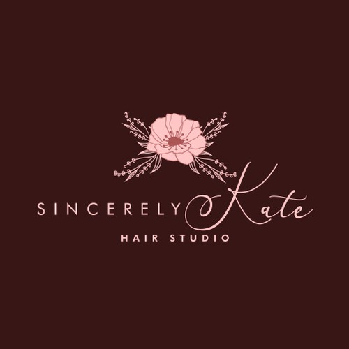 Floral inspired logo design for a hair stylist