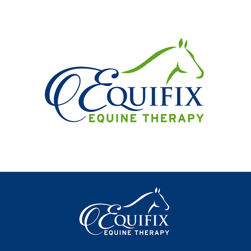 Sophisticated logo for equine massage therapist