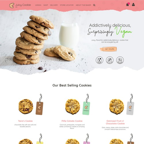 Vegan Cookies Web Design