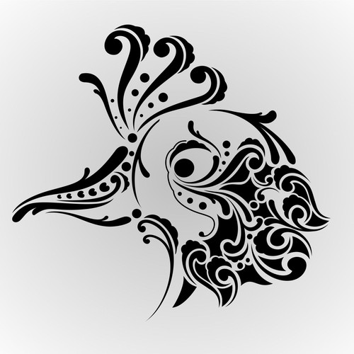 peacok tribal logo