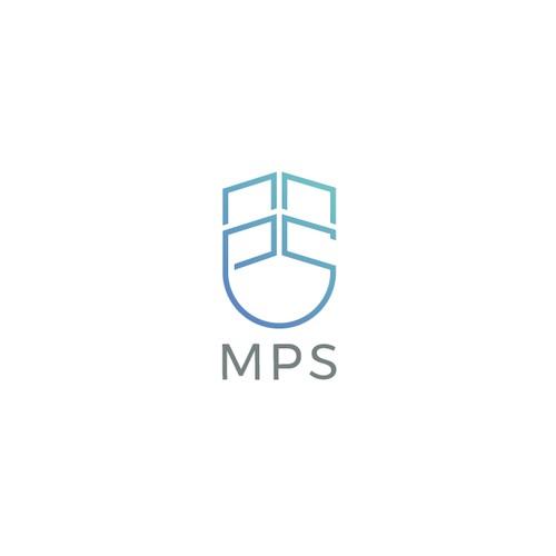 Sleek line art logo for MPS