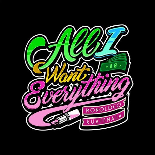 Colorfull typography