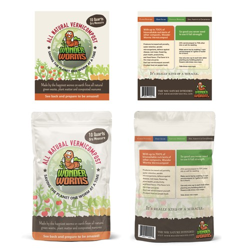 All Natural Vermicompost package design