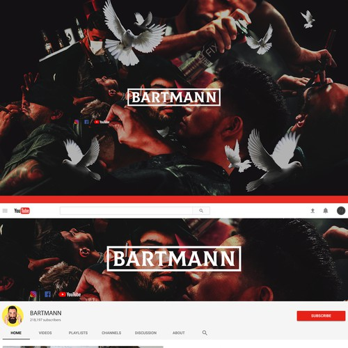 Design for Bartmann (200k + subs)