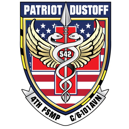 Logo for a US Army Medical Evac Unit