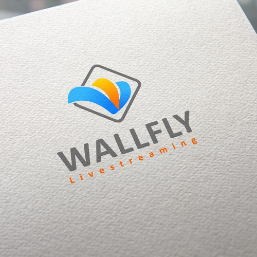 Web video streaming company logo design