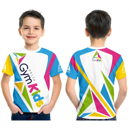 T-shirt design for Gymnastic Kids.