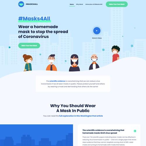 Web Design Concept for Masks4All Campaign
