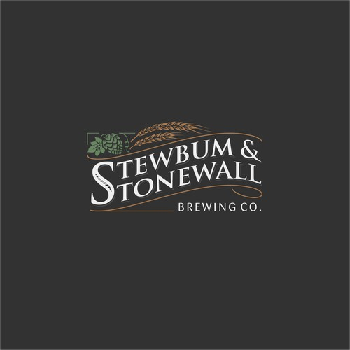 Logo for Stewbum & Stonewall Brewing company