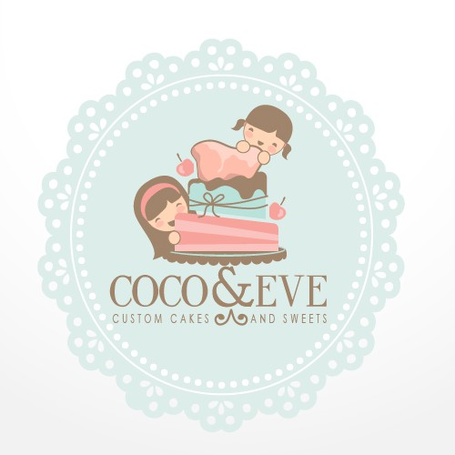 Coco and Eve custom cakes and sweets logo design