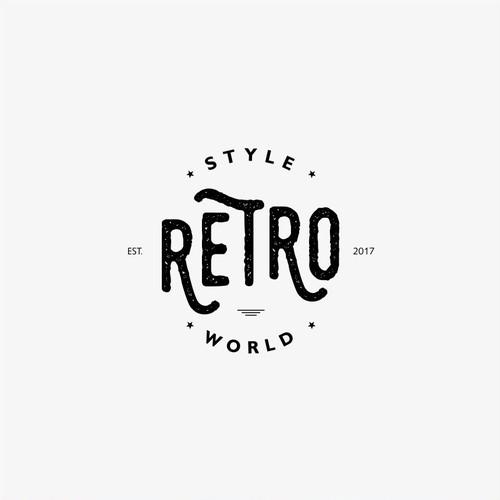Retro Style World Logo