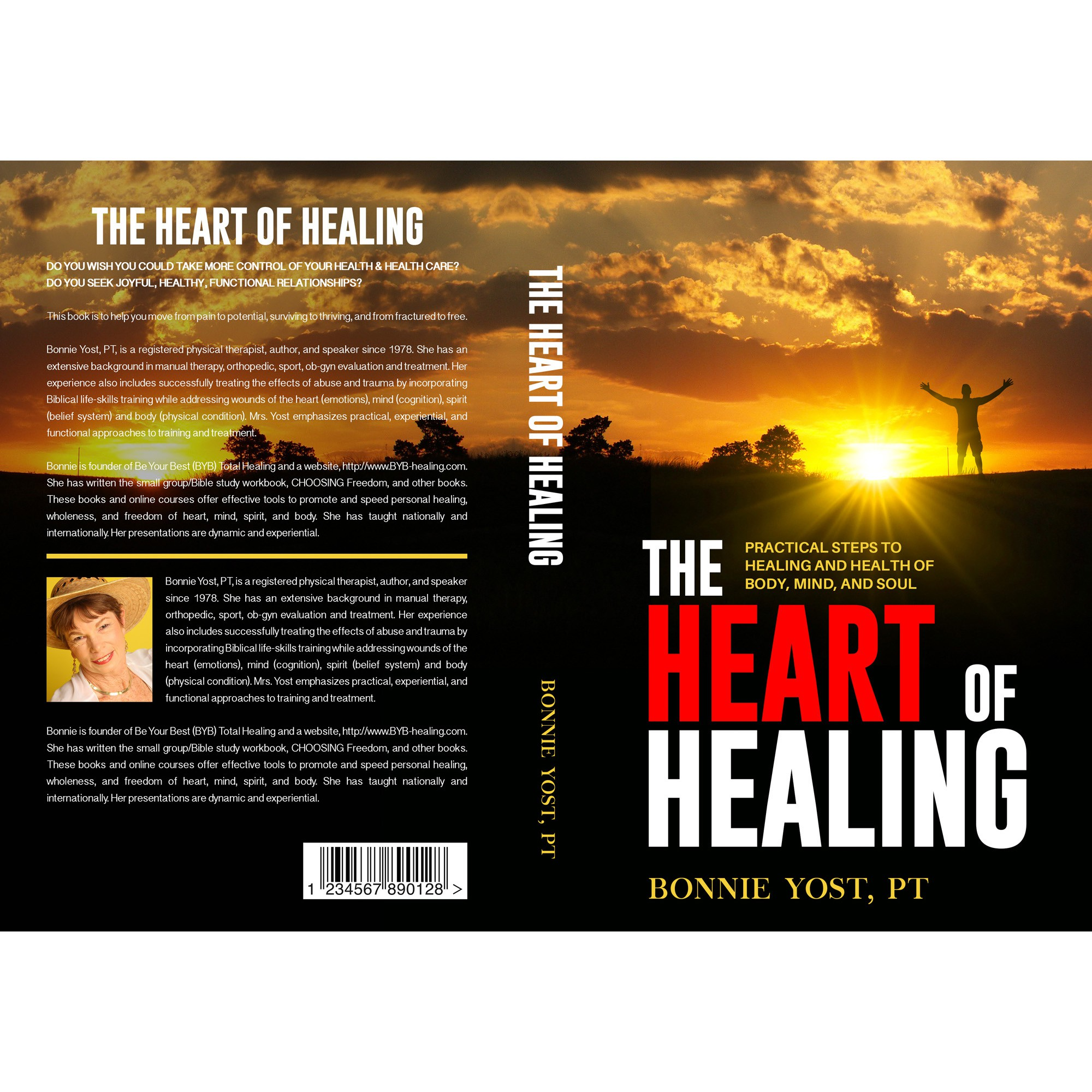 """The Heart of Healing"" book needs a catchy cover that gives hope to the hurting."