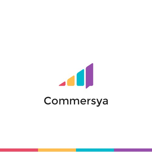 Simple logo for Commersya