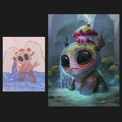 Recreate child's artwork