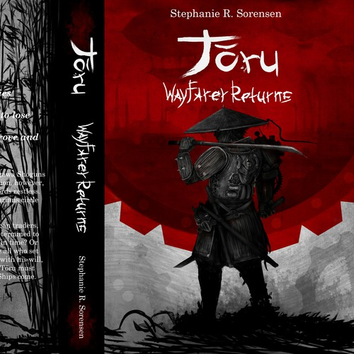 Cover illustration for steampunk samurai novel