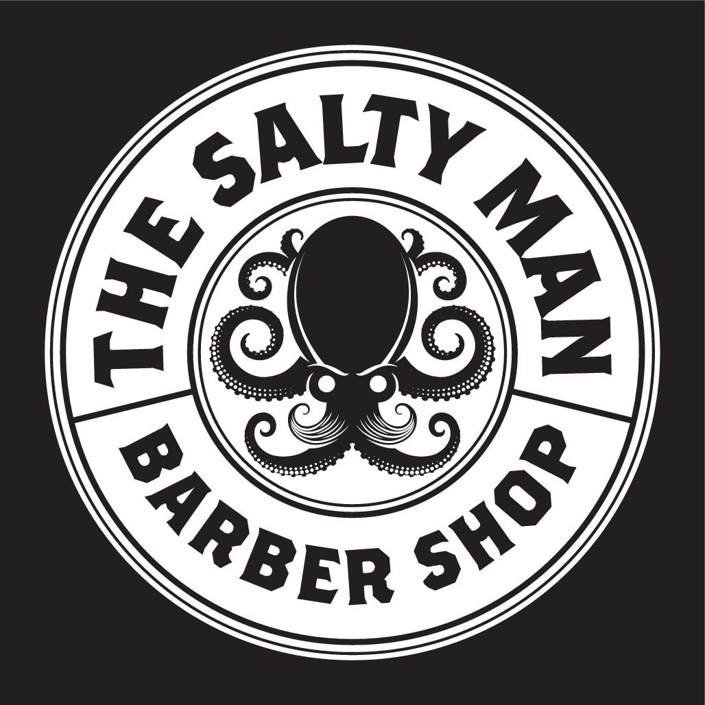 The salty man barber shop needs a brand new logo