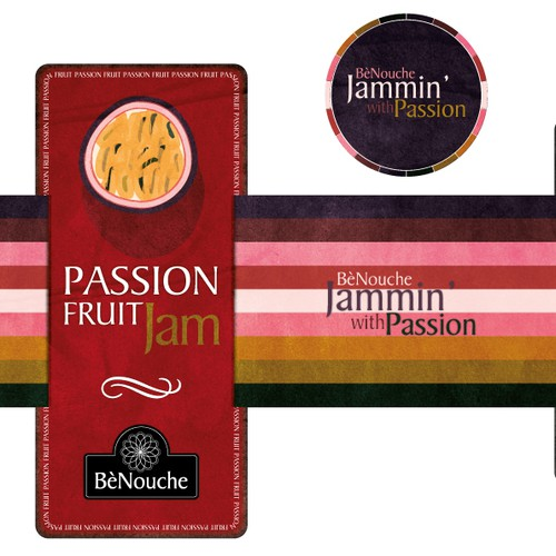 Create a  Label for Passionfruit Jam...We have a passion for jam....