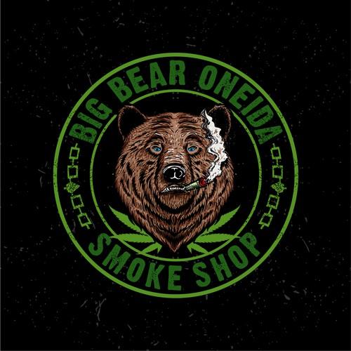 Vintage design Big Bear Smoke Shop