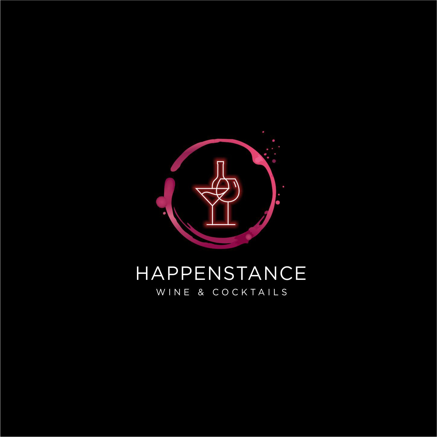 Captivating logo for a one of a kind, posh meets eccentric, suburban self-serve wine/cocktail bar