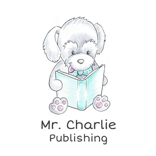 Hand-drawn logo for Mister Charlie Publishing