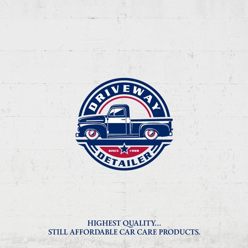 Bold logo for car care service company