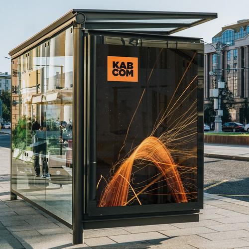 KAB COM Logo concept