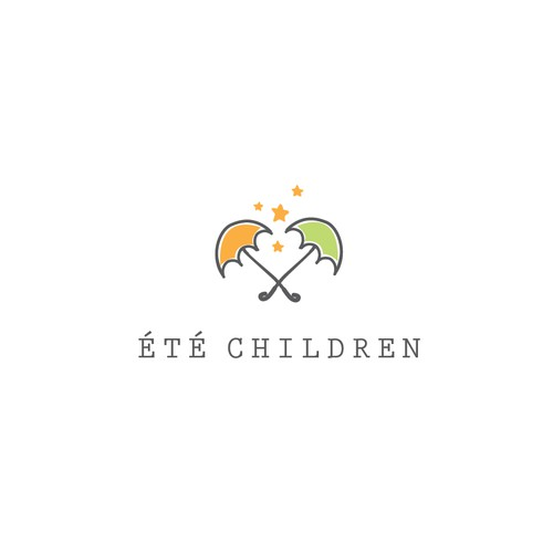 Logo concept for kids chlotes