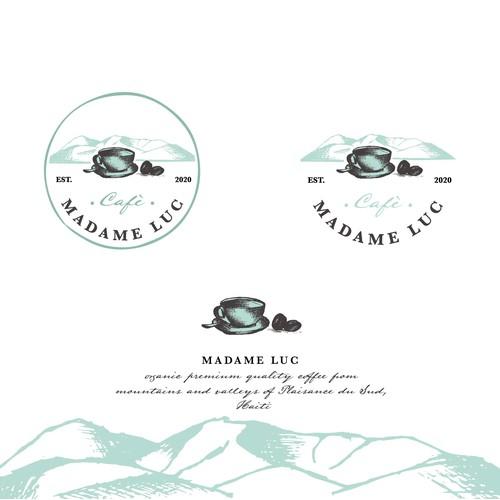 Vintage, hipster, coffee logo